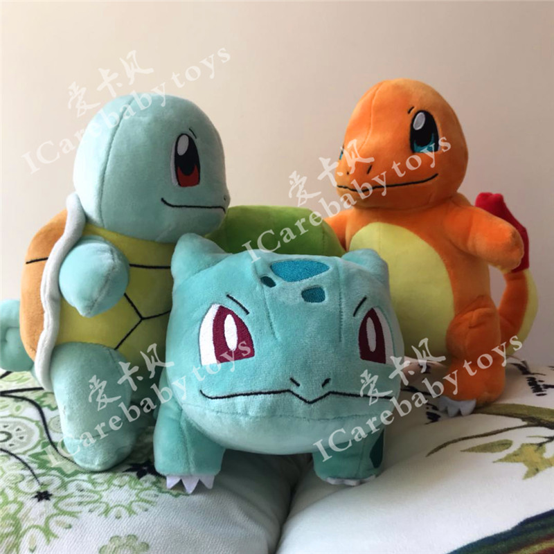 New Arrival 22cm Anime Cartoon XY Slee Charmander Squirtle Bulbasaur Plush Toys Cute Soft Doll Pocket Doll Gift For Kids
