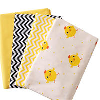 5pcs 40 50cm Cartoon Cotton Fabric Chicken Pattern Fat Quaters Quilting Sewing For Children Sheets Dress