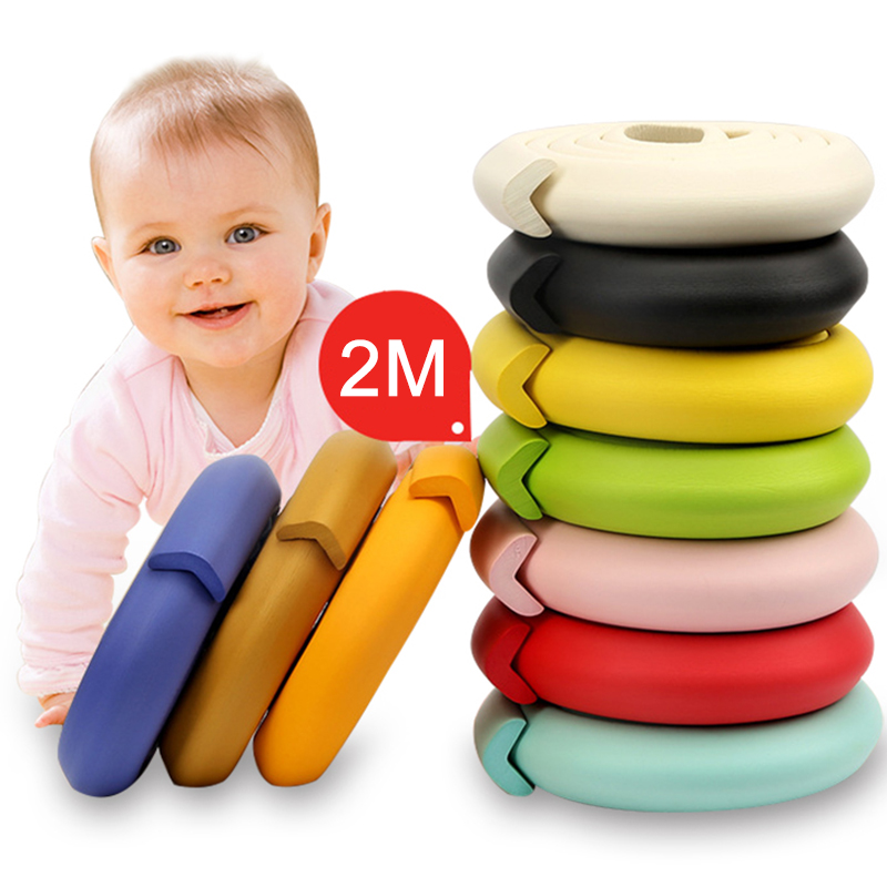 2M Baby Safety Table Desk Edge Guard Strip Home Cushion Guard Strip Safe Baby Protection Children Bar Strip For Baby Care Bumper