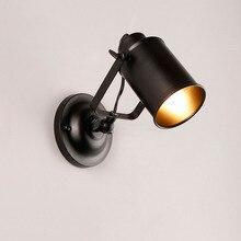 Industrial Wall Spot Light Vintage Metal Wall Mounted Spot Lighting Fixture E27 Bulbs Holder For Loft