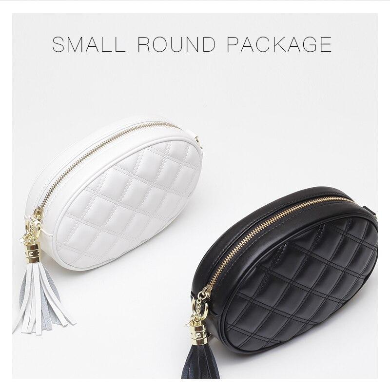 Crossbody Leather Famous Brand Women Bags Chains Circular Tassel Small Flap Bag Luxury Elegant Shoulder Bags For 2018 Women