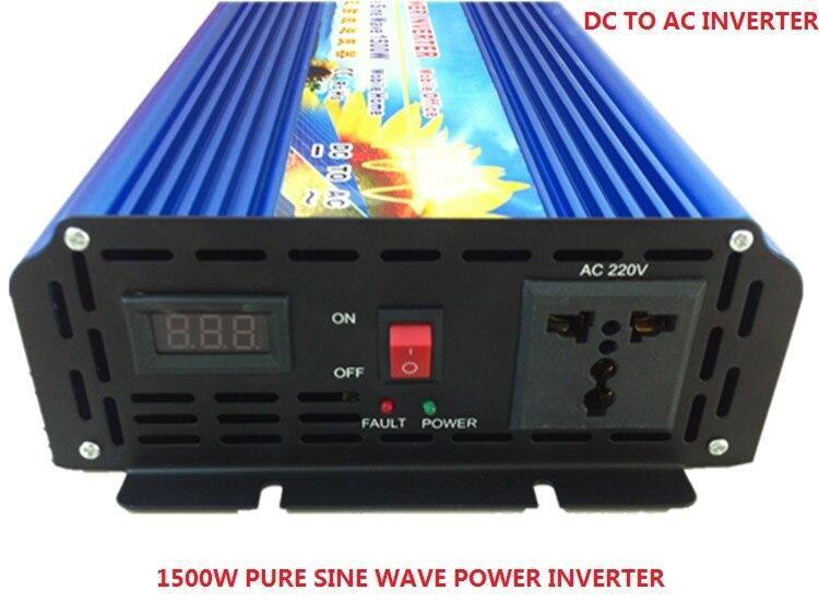 digital display 1500W pure sine wave solar power inverter DC 12V 24V 48V to AC 110V 220V promotion 1500w pure sine wave solar power inverter dc 12v 24v 48v to ac 110v 220v