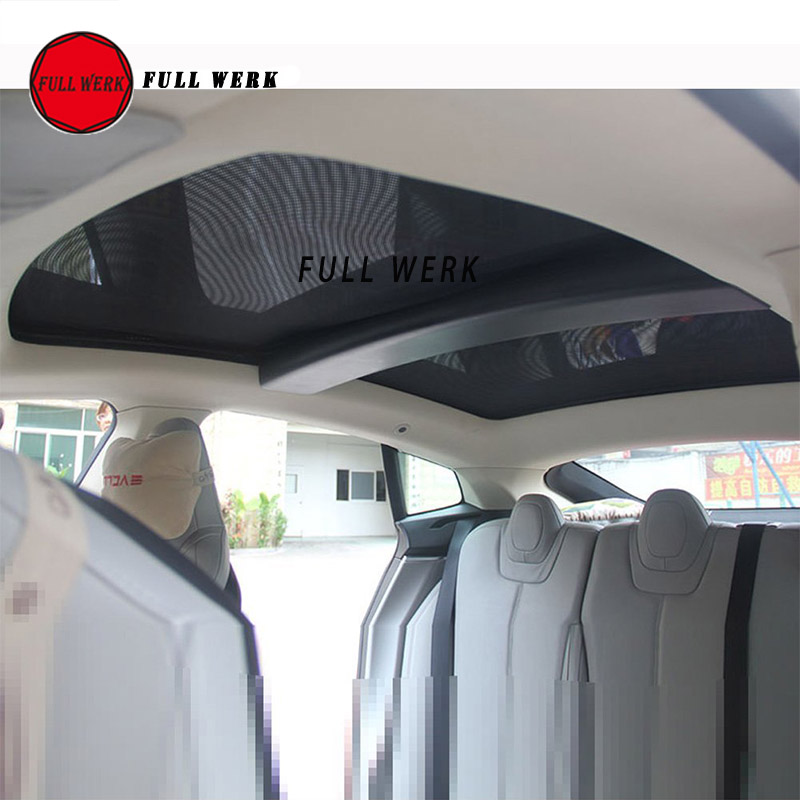 Dasbecan Model 3 Sunshade Sunroof Cover Compatible for Tesla Model 3 Car Glass Roof Front Rear Window Sun Shade 2 of Set