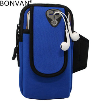 BONVAN 6 inch Running Jogging GYM Phone Bag Sports Wrist Bag Arm band Outdoor Versatile Bag For Camping Hiking Armband