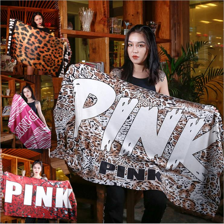 2018 New Arrival 140*70CM Beach Towel Pink Victoria Sport Towel VS Secret Pink Bath Towel Fleece Blanket Towel Swimwear Shower