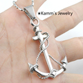 Men Silver Plated Anchor Pendant Necklaces New Fashion 2015 Jewelry For Women Party 316L Stainless Steel Free Shipping KP1226A