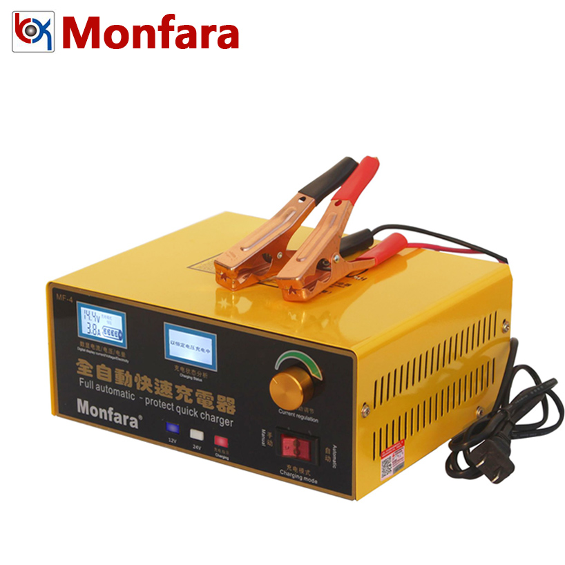 12V//24V Automatic Quick Battery Charger Intelligent Pulse Repair Truck Storage