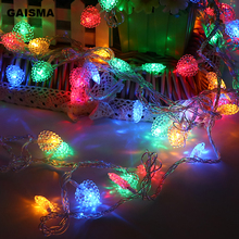5M 10M 20M 30M 50M Christmas Garland LED String Lights Decoration Heart Fairy Lights For Holiday Party Wedding Room Lighting цена 2017