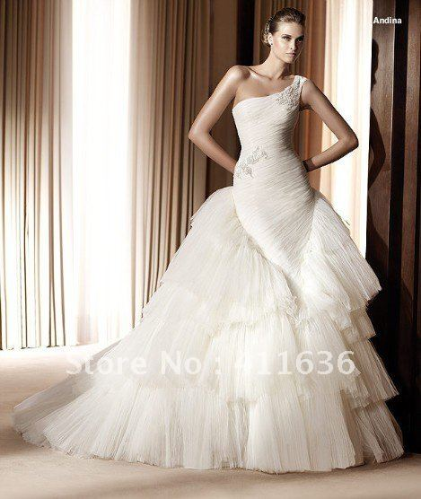 Free Shipping Custom Made 2013 Unique Wedding Dresses Most Fashion Gowns Hot Selling New Designs
