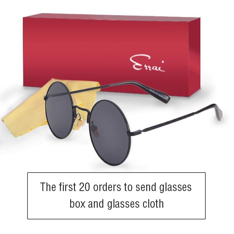 ERRAI men sunglasses for women glasses steampunk sun glasses sunglass men polarized retro vintage round sunglasses fishing parka