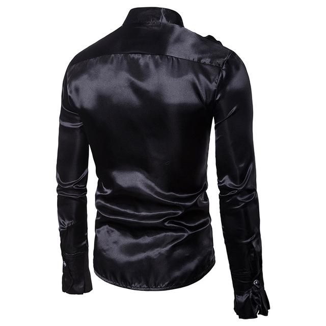 Men's Long Sleeve Vintage Collar Tuxedo Shirt