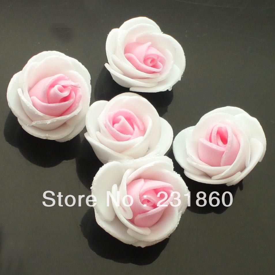 50 X Artificial Flower Pink White Rose Make Ball Tabble Ter Free Shipping In Dried Flowers From Home Garden On Aliexpress