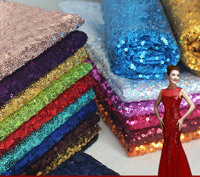 1m Pcs Embroidery Sequin Fabric Material Gold Silver Sparkly Fabric For Clothsing Making Party Events Table