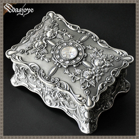 Quality Vintage Pandora Painted European Style Korean Princess Jewelry Box Double Deck Ring Holder Girl Gift Jewelry Casket 2018