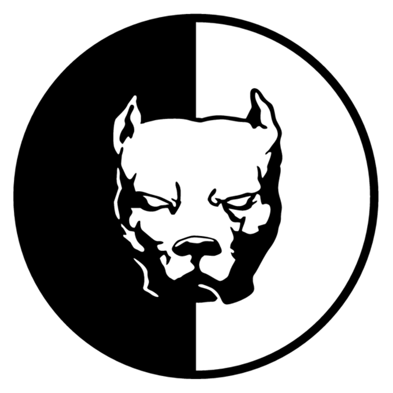 CS-471#15*15cm Pit Bull 22 Funny Car Sticker And Decal Silver/black Vinyl Auto Car Stickers