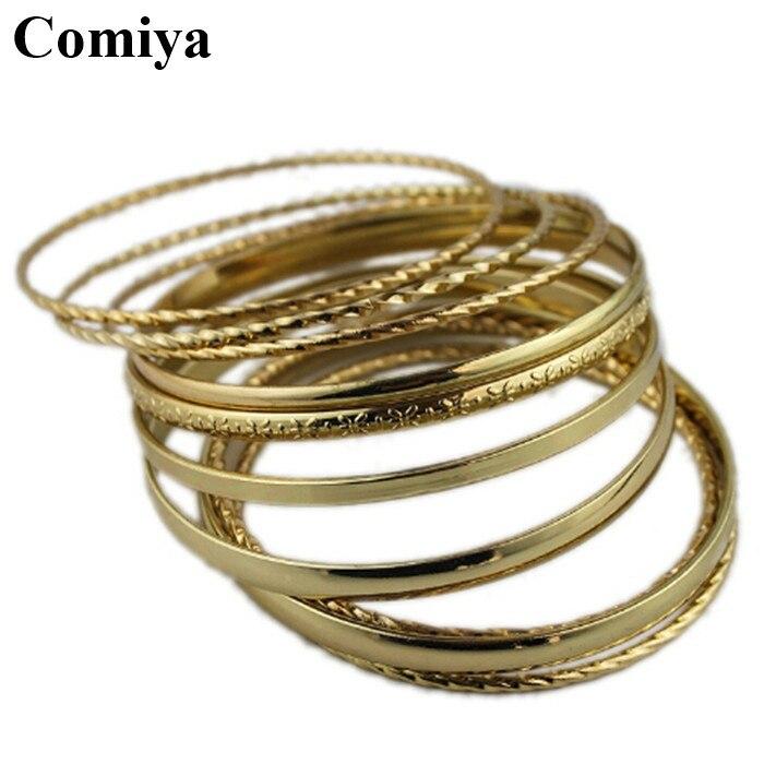 De nombreux couche chunky plaqué or bracelet bras manchette pulseiras marque bracelets bracelets bijoux parfums femmes