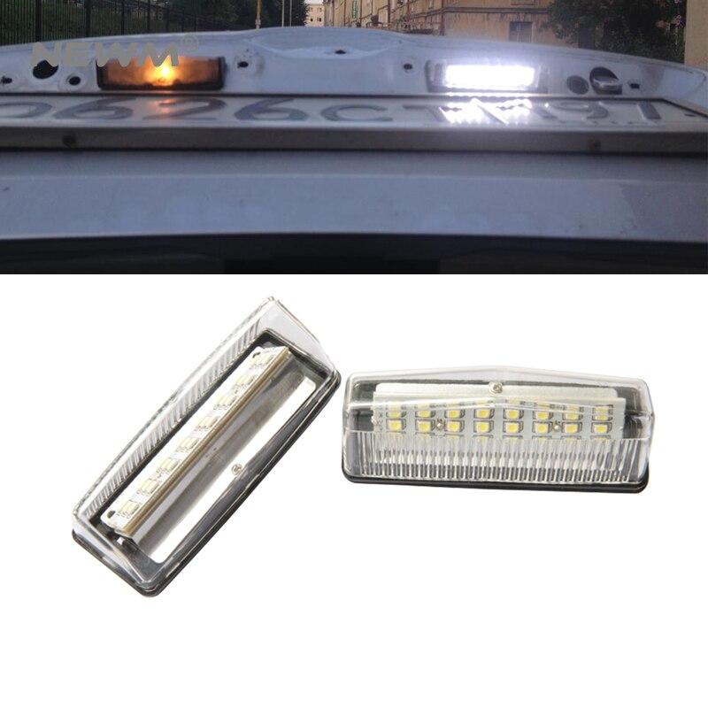 Бесплатная доставка 2шт одним лотом для Тойота Приус лицензии автомобиля свет 12V авто хвостовой части нет ошибок LED номерного знака лампы