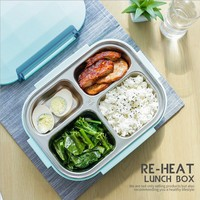 2018 new Compartments 304 Stainless Steel Japanese Lunch Box With Compartments Microwave Bento Box For Kids School Picnic Food