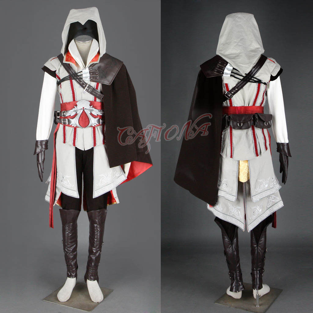 Cafiona Super Hero Assassins Creed Ezio Auditore Cosplay Costume Cool Man Fighting Outfits Halloween