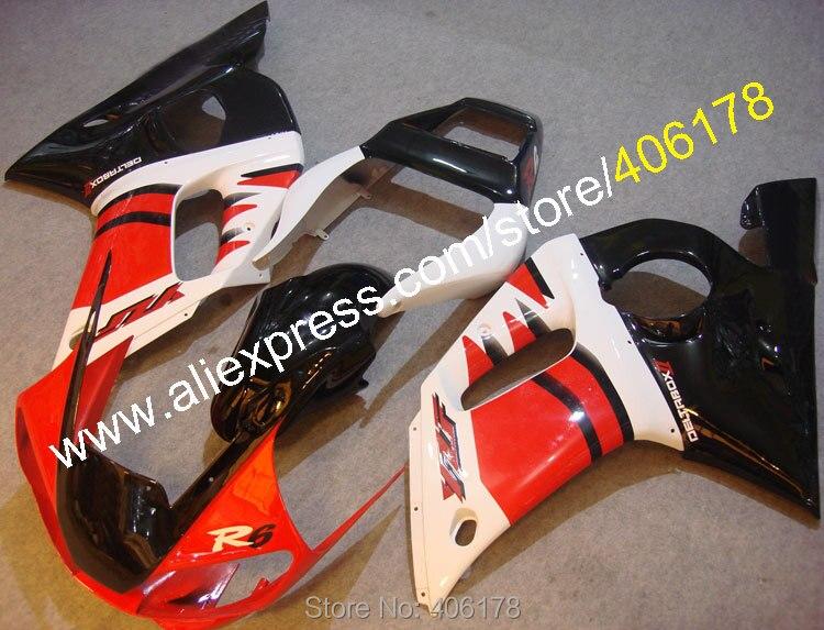 Offres spéciales, pour Yamaha r6 kit carénage YZF-R6 YZF R6 YZF YZF600 YZF 600 98 99 00 01 02 1998-2002 carénages (moulage par Injection)