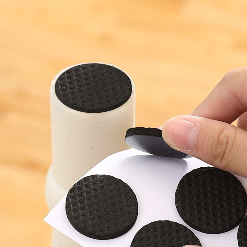 2/8/12/18/30 Pieces Chair Leg Pads Floor Protectors For Furniture Legs Table Leg Covers Round Bottom Anti Slip Pads Rubber Feet