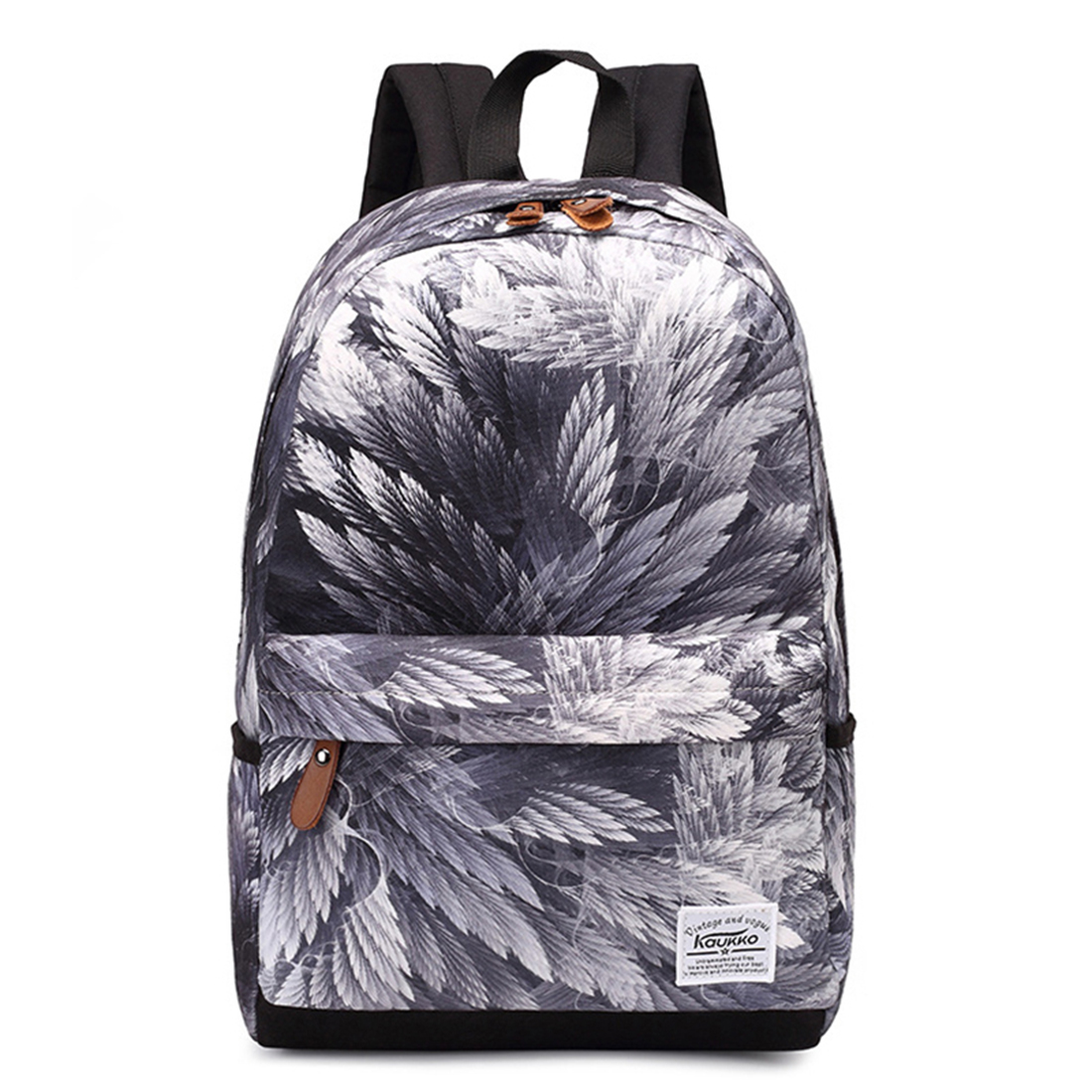 KAUKKO women travelling backpack school bags Fashion printing backpacks for teenagers girls, Feather 1pc hight quality hot fashion unisex emoji backpacks 3d printing bags drawstring backpack nov 10