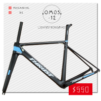 OEM Products Chinese Carbon Road Bike Frame Aero 700c Bicycle Frame Customized Paint New Carbon Road
