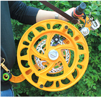 Free Shipping Outdoor Fun Sports 32cm Three Generations Of Magnesium Alloy Wheel Straps Round/ Top Kite Golden Wheel