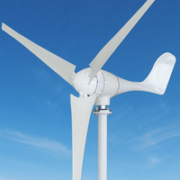 500w 24vDC potable wind generator + hybrid charge controller with additional 200w solar capacity