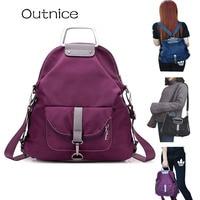 2016 Fashion Female Bag Multifunctional Backpacks Sport Oxford Travle Portable Crossbody School Bag Back Pack Sac