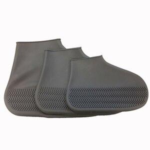 Image 5 - 1 paar Silicone Overschoenen Waterdichte Regendicht Herbruikbare Schoenen Covers Regen Laarzen antislip Unisex Protectors voor Regent Outdoor
