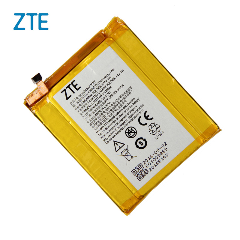 Original ZTE Li3927T44P8H726044 Phone battery For ZTE Axon 7 Mini 5.2inch 2705mAhOriginal ZTE Li3927T44P8H726044 Phone battery For ZTE Axon 7 Mini 5.2inch 2705mAh