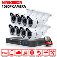Home Security 8CH AHD 1080P HDMI DVR 1080P Outdoor CCTV Camera System 8 Channel Video Surveillance