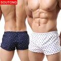 Men underwear boxer shorts troncos calças de algodão dos homens cueca boxer shorts underwear impresso cuecas dos homens shorts de casa std05
