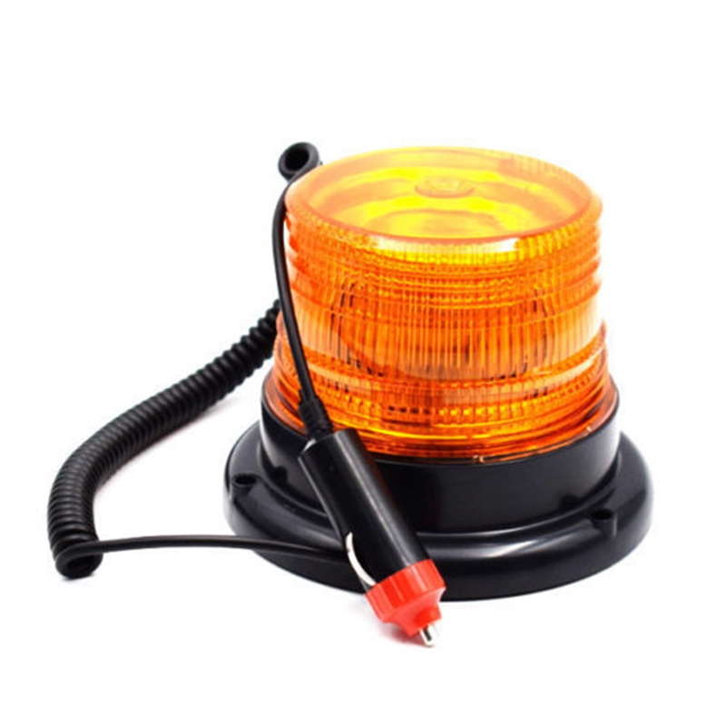 12-24V LED Car Truck Magnetic Warning Light Flash Beacon Strobe Emergency Lamp Yellow