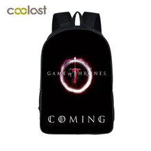 Game of Throne Backpack for Teenagers Winter is Coming Women Backpack Laptop mochila Crowns Girls Boys