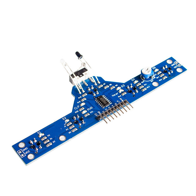 1pcs smart electronics five road tracing module tracing sensor1pcs smart electronics five road tracing module tracing sensor tracking module 5 functions to send routines tcrt5000 hbm0315