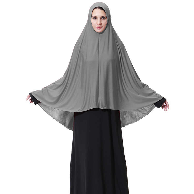 Хиджаб для мусульманок шарф однотонный Эластичный Арабский исламский головной убор одежда Исламский хиджаб шапка femme musulman