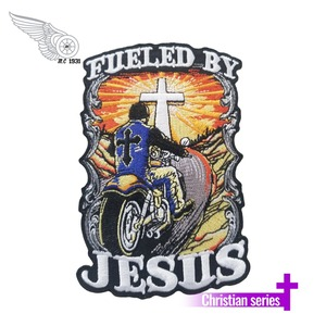 JESUS FRONT PATCHES FOR EMBROIDERED IRON BADGE 10PCS/LOT MOTORCYCLE BIKER PATCH(China)