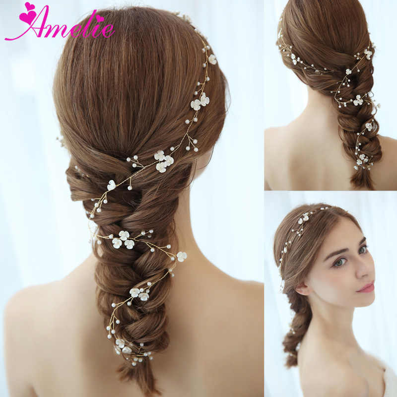 dc0179892958e Delights Headband Enchanted Blossom Floral Bridal Long Hair Vine ...