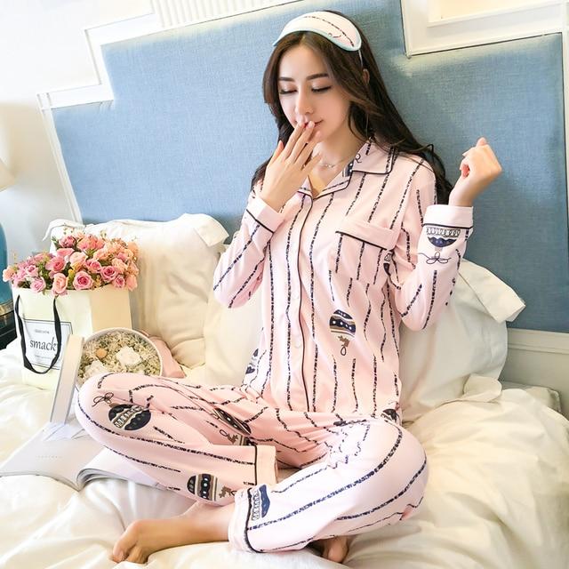 7d03abe91 Sexy de pijamas de las mujeres conjuntos de pijamas de 2019 nuevo primavera  2 piezas pantalones