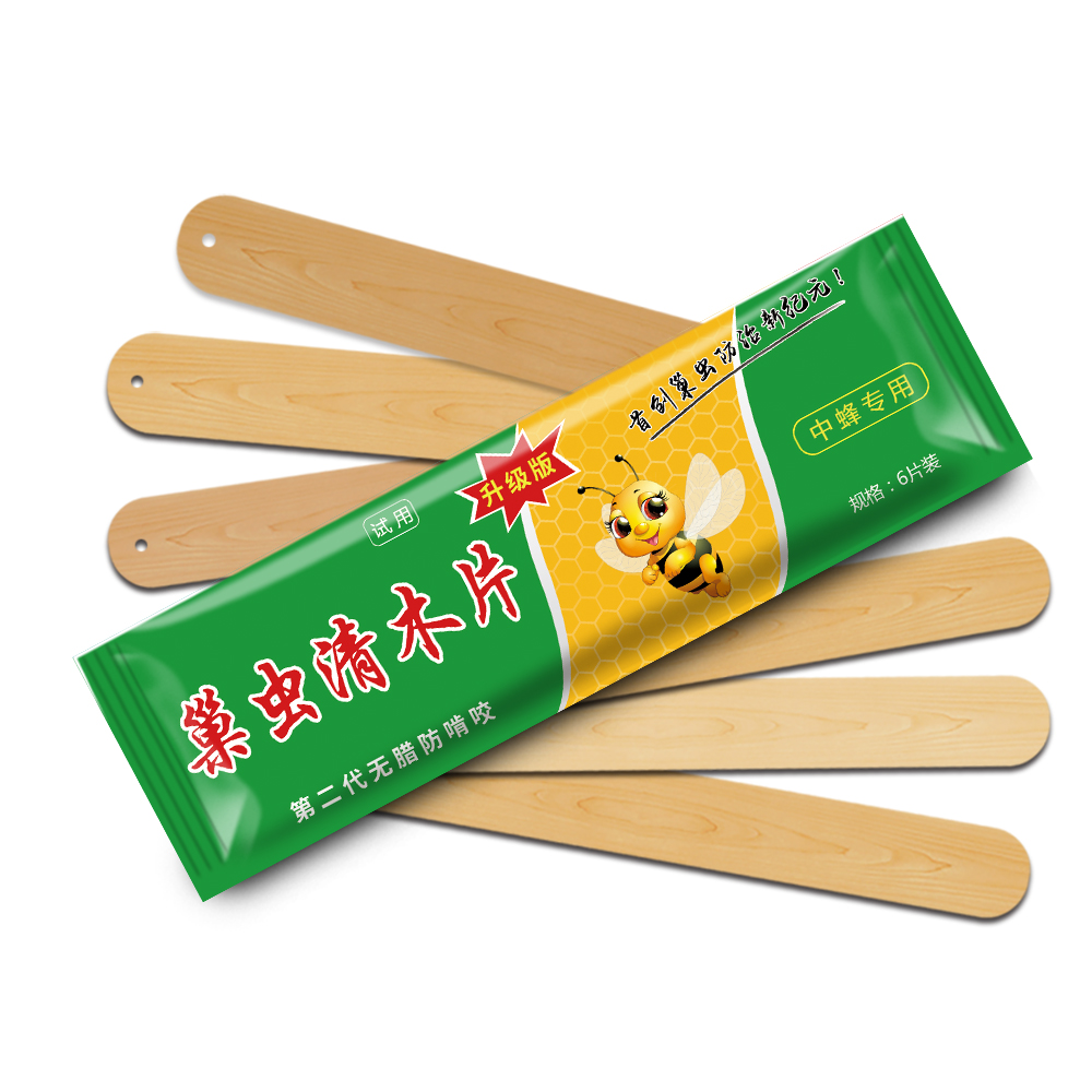 6pcs bag Beekeeping Bee Medicine Wood Strips Bees Medicines Medications for wax moth Kill Nest Insects Beekeeper in Varroa Mite Control from Home Garden