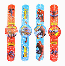 12PCS Hero Spider man Slap Bracelets Kids birthday party supply gift for boy baby shower favors souvenirs