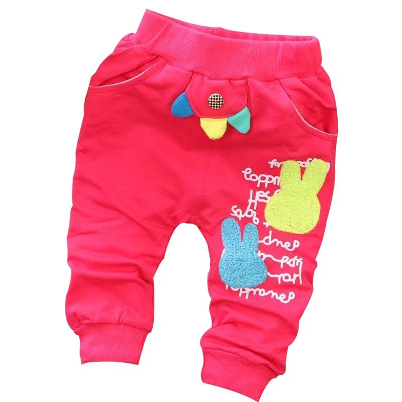 2015 våren nya 1 st koreanska flickor tecknad kanin baby harem byxor - Babykläder
