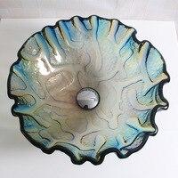 Bathroom countertop basin tempered glass bathroom glass art basin wash basin LO626532