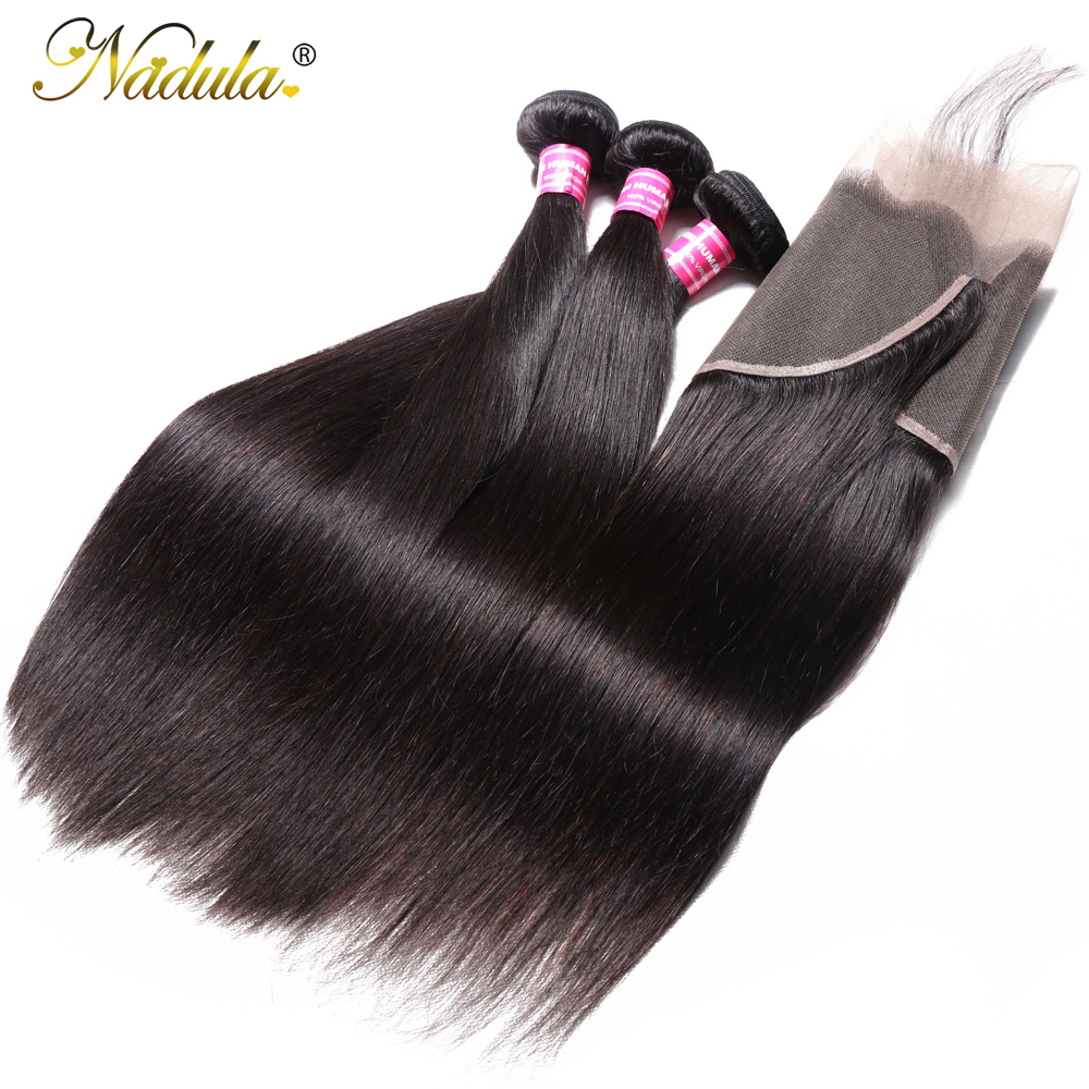 Nadula Hair 13x6 Lace Frontal Closure with Bundles Straight Hair Bundles With Frontal   Hair Bundles with Frontal 2