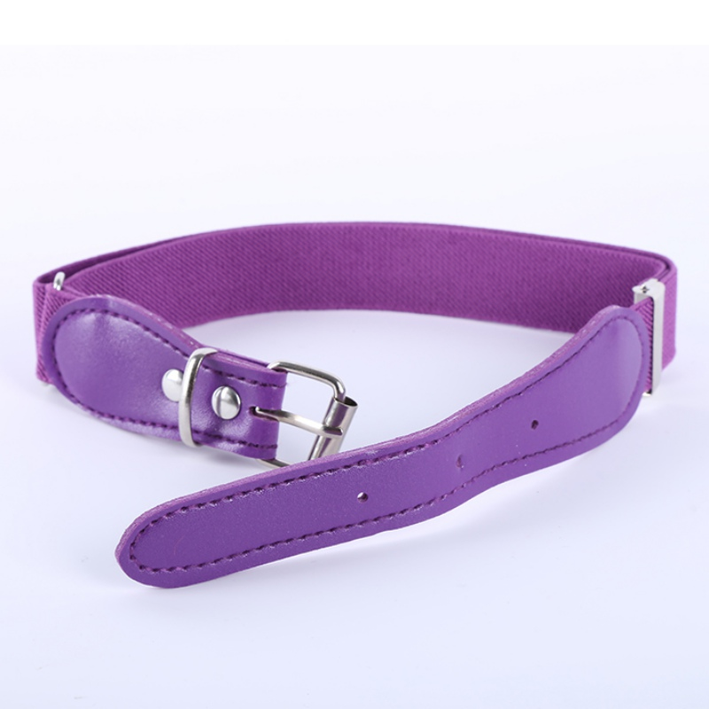 Children Elastic Waist Belt For Boys Girls Fashion Candy Color Wide Belt W
