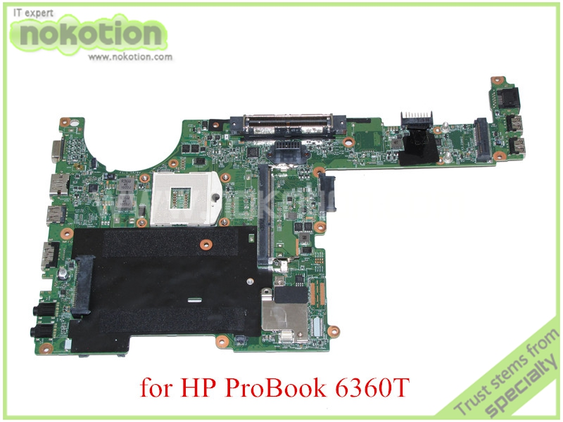NOKOTION 48.4KT01.021 655561-001 LAPTOP MAINBOARD For hp probook 6360T motherboard HM65 DDR3 nokotion original 773370 601 773370 001 laptop motherboard for hp envy 17 j01 17 j hm87 840m 2gb graphics memory mainboard