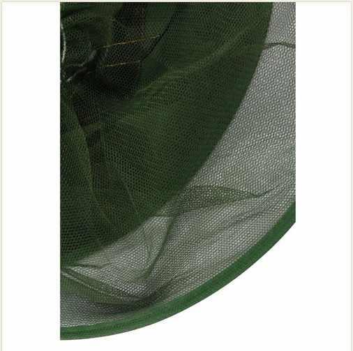 1 PCS Camouflage all'aperto cappello pesca Zanzara netto Cappello Apicoltura Volare Insetti Prevenzione Cappello Della Protezione Della Benna Bee bug cappello di maglia