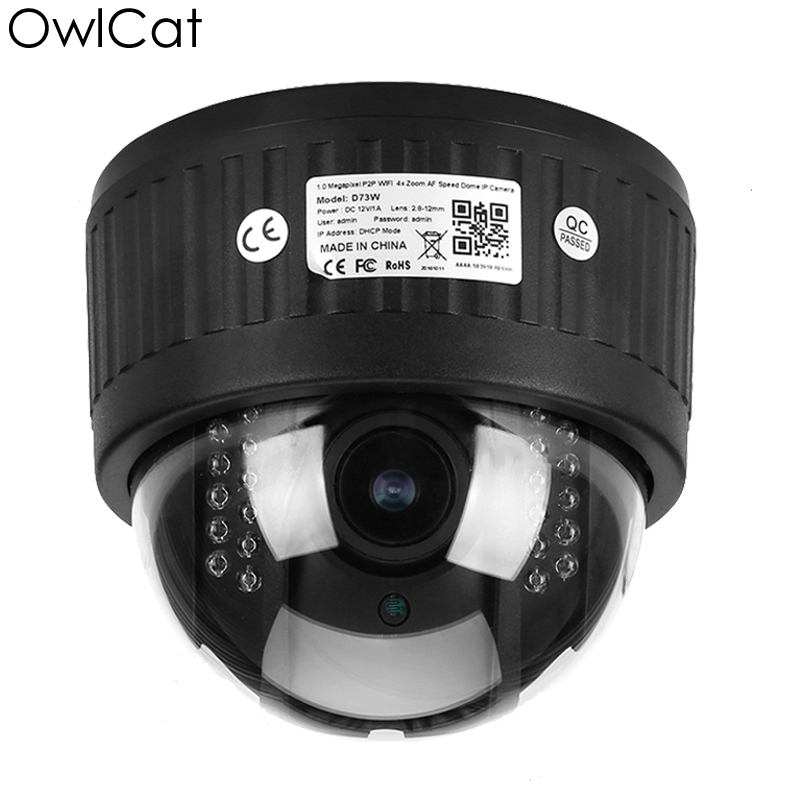 Owlcat 5X Zoom HD 960P 1080P Dome PTZ Security Wifi IP Camera Wireless 2.7-13.5mm Microphone Audio SD Card Night vision P2P howell wireless security hd 960p wifi ip camera p2p pan tilt motion detection video baby monitor 2 way audio and ir night vision